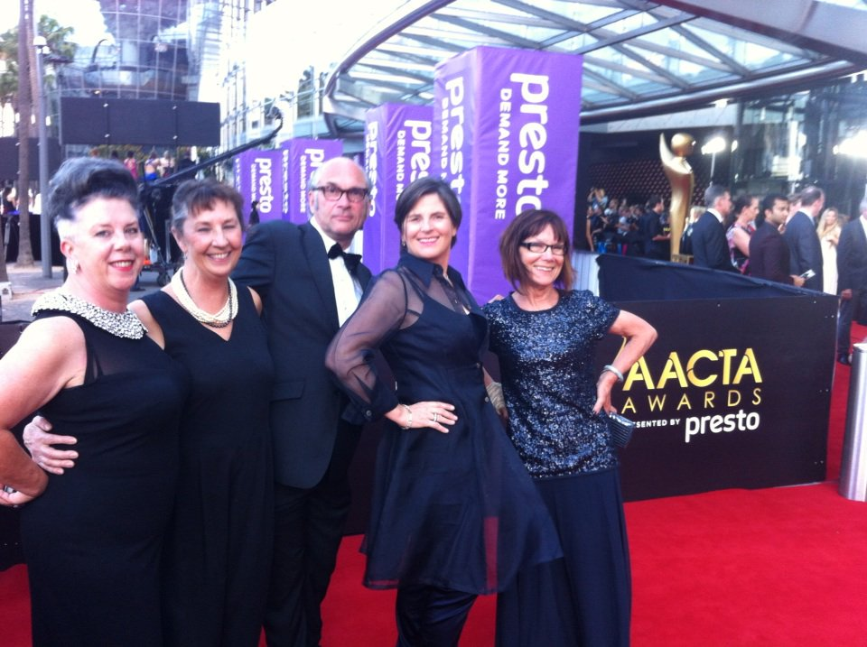 Maslin and the team from 'The Dressmaker' at the 2015 AACTA Awards